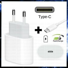 CARICABATTERIA USB TIPO TYPE C + CAVO IPHONE VELOCE FAST CHARGE CARICATORE 18 W