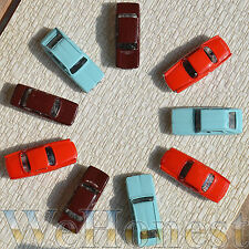 6 x Metal Model Cars 1:87 HO Scale for Building Railroad Train Scenery Mixed
