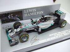 Minichamps Lewis Hamilton Mercedes W05 Abu Dhabi GP World Champion 2014 1:43
