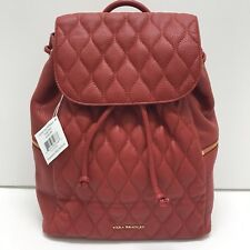 Vera Bradley Amy Quilted Leather Backpack in Tango Red