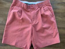 Alan Flusser Men's Golf Shorts Salmon Orange 34