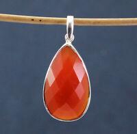 925 Sterling Silver Carnelian Gemstone Handmade Pendant Women Jewelry KP1001