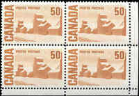 Canada Mint NH VF Scott #465A 50c 1967 Block of 4 Stamps