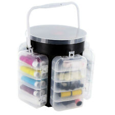 210 PIECE DELUXE SEWING KIT SET STORAGE CADDY BOX THREAD NEEDLES PINS BUTTONS