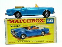 Matchbox Lesney No.69c Rolls-Royce Silver Shadow 'F2' Black Superfast Script Box