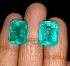 Loose Gemstones 5 to 6 Cts 2 Pieces Natural Emeralds Certified Best Offer