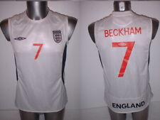 England Vest David BECKHAM Adult Medium Shirt Jersey Football Soccer Umbro Top A