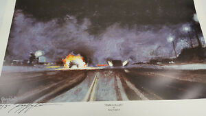 """Kenny Youngblood 15""""X24"""" poster art of Trouble in the Lights Funny Car on Fire"""