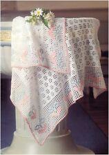 Vintage Crochet Pattern to Make a Christening Day Baby Blanket