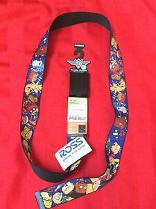 "Rugrats Group Pose Full Colour Seatbelt Buckle Belt (20-36"")"
