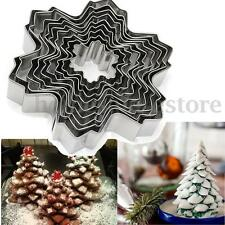 9Pcs Christmas Steel Sownflake Biscuit Cookie Cutter Fondant Cake Mold Mould Set