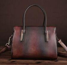 New Vintage Red Brown Women's Genuine Leather Messenger Shoulder Bag Handbag S