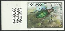 Monaco Insectes Carabe Dore Gold Beetle Käfer Non Dentele Imperf Proof ** 1987