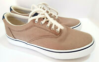 SPERRY TOP-SIDER Mens Striper LL CVO Beige Canvas Boat Casual Shoes Size 7M