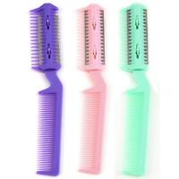 Pet Dog Cat Hair Trimmer Comb w/ 2 Razors Rakes Cutting Grooming Clean Tool