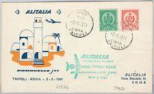 AIRMAIL 1st FLIGHT COVER - LIBYA - TRIPOLI / ROME  1961 - Pellegrini # 428AA