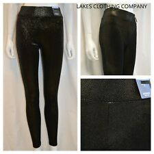 M&S Leggings Velvet GOLD BLACK Herringbone High Rise Full Length High Waist 8-24