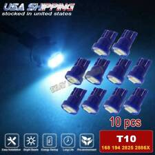 10x T10 Wedge LED Ice Blue Car Instrument Panel Light Bulb W5W 168 175 501 Dash