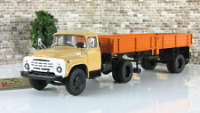 Scale model truck 1:43 ZIL-130V1 with semitrailer ODAZ-885