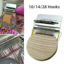 More details for speedweve type small loom diy darning tools with plastic discs 10/14/28 hooks