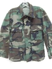 USMC military issue combat coat camo woodland small regular button pocket MINT