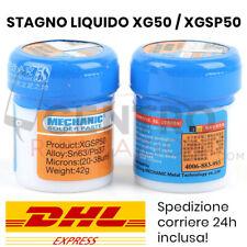 PASTA SALDANTE STAGNO LIQUIDO MECHANIC XG-50 XGSP50 SALDATURE REWORK BGA SMD