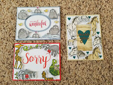 3 Stampin' Up! Floating Frame Cards, Walrus, Let it Ride Horse ,Back on Feet