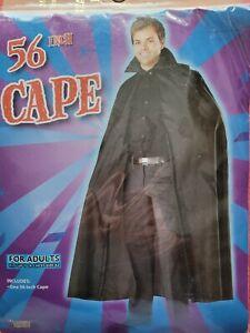 "56"" Black Cape Adult"