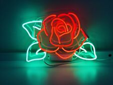 "New Rose Flower Neon Sign Acrylic Gift Light Lamp Bar Wall Room 15""x10"""