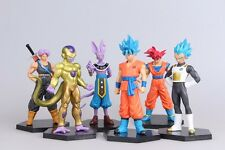 Lot de 6pc Dragon ball DBZ Son Goku Vegeta Trunks Action Figurines Jouet Gift #A