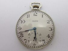 Solid White Gold Vintage 1926 Elgin Pocket Watch 14K