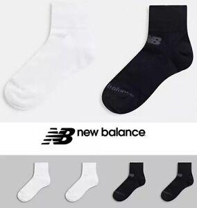 NEW BALANCE Socks Quarter Sock Breathable 3/4 Socks Bulk Buy (3 Pairs)