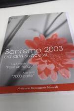 SC17 SPARTITO Sanremo 2003 ed altri successi-7000 caffè-Fossi un tango-Hey