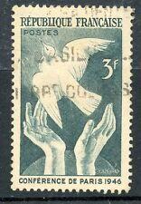 TIMBRE FRANCE OBLITERE N° 761 CONFERENCE DE LA PAIX A PARIS EN 1946