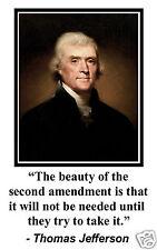 Thomas Jefferson 2nd Second Amendment Conservative 11 x 17 Poster Photo #sm2