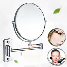 New UK 3X Extending Magnifying Makeup Bathroom Shaving Round 2-Side Mirror Wall