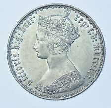 1859 GOTHIC FLORIN, BRITISH SILVER COIN FROM VICTORIA GEF