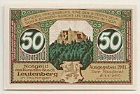 Stadt Leutenberg Thüringen Notgeld 50 Pfennig 1921 Nr. 28657 G10/59