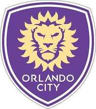 "Orlando City MLS Soccer bumper sticker wall deco Large vinyl decal, 9.5""x 11"""