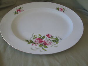 "Johann Haviland COURTSHIP 13"" Platter (pink rose, green stems) replacement dish"