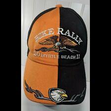 Myrtle Beach Bike Rally Baseball Cap 2011 Adjustable Motorcycle Eagle Black