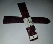 ZRC France Made Burgundy GENUINE Lizard 18mm Watch Band Gold Tone Buckle $39.95