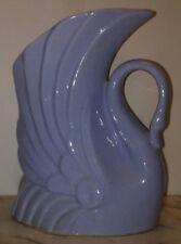 """Swan Planter Vase Art Nouveau Deco Niloak Arts & Crafts Pottery Blue 7 1/2"""" tall"""