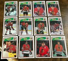 1988-89 O-Pee-Chee  CHICAGO BLACKHAWKS 12  card team set complete