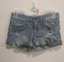 Denizen Summer Levi's size 3 low rise shortie ladies denim striped levis