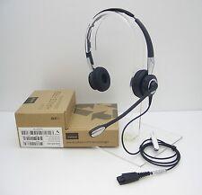 Jabra Biz 2400 Ii 2425 Duo Premium Wired Noise Canceling Qd Headset 2409-820-205