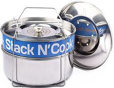 Stack N' Cook - Stackable Stainless Steel Pressure Cooker Steamer Insert Pans