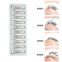 10PCS Eyelash Glue Strong Clear/Black Waterproof False Eye Adhesive Lash  u k