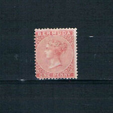 Bermuda - 1865 QV - 1d Rose Red - Perf 14, Wmkd. CC - SC 1 [SG 1] Mint 20
