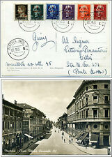 Six stamps PSI MANTOVA Postcard on First Day Issue 27 September 1945 - Very Rare